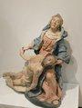 Muzejní expozice – Pieta, dřevěná socha z dílny Franze Ignaze Günthera kolem r. 1760 (2017, jm)