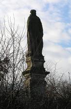 Socha sv. Valburgy (Kolešovice, Česko)