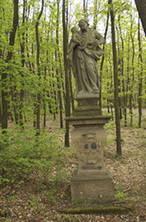 Socha sv. Josefa Pěstouna (Olešná, Rakovník, Česko)