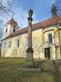 Kostel s mariánským sloupem (2015, ew)